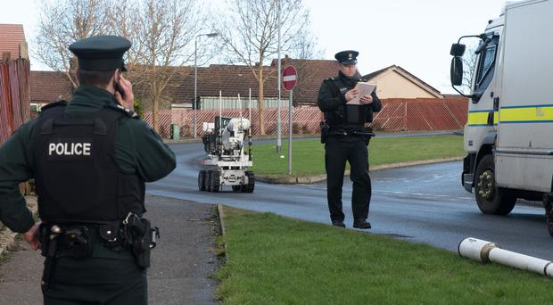 Part of Earhart Park has been closed following the find of a suspicious object in the area. A number of homes have also been evacuated. The Shantallow Community Centre has been opened for any evacuated residents who require shelter. Pic: Pacemaker