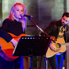 Mary Chapin Carpenter on stage in St Anne's Cathedral, Belfast