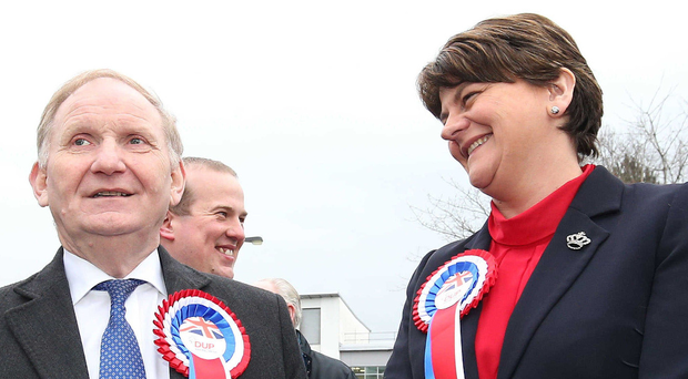 Lord Morrow with DUP leader Arlene Foster