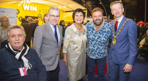 Michael Bailey, with mayor of Salou - Pere Granados, Maureen Ledwith, Martin Roberts and Lord Mayor of Belfast Brian Kingston