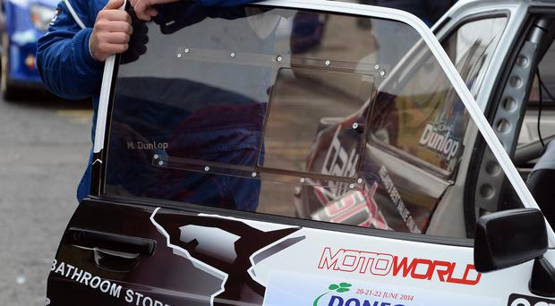 Changing gear: Michael Dunlop will put his rally car through its paces at this weekend's Balmoral Park motorcycle festival