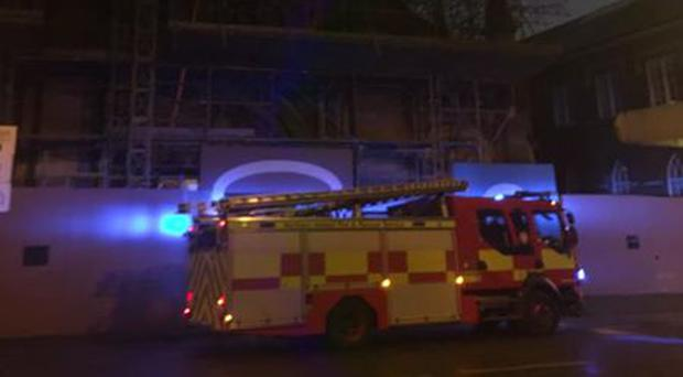 Emergency services at St Patrick's Church Belfast