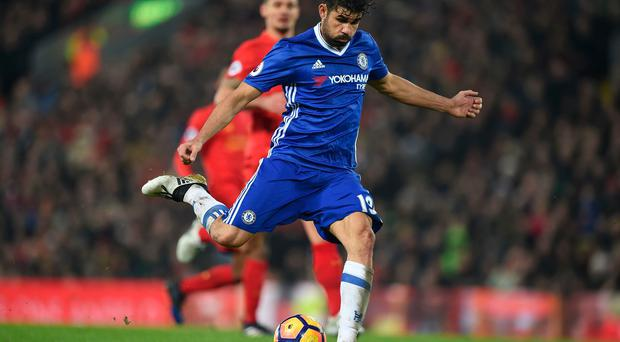 Chelsea striker Diego Costa misses his penalty against Liverpool