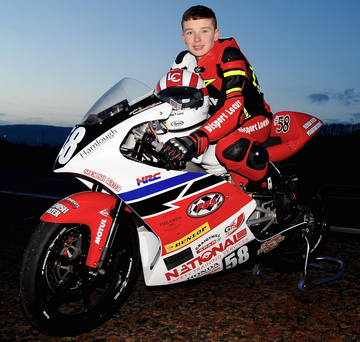 New machine: Luke Clements has a Moto3 Grand Prix bike and selected