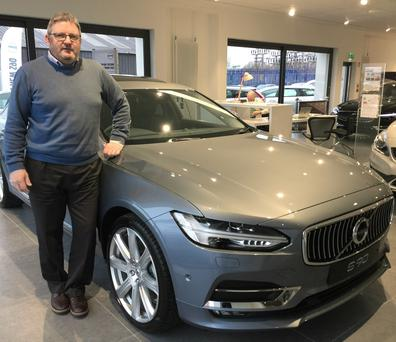 Motoring in: Andy Duke, from Greers of Antrim Volvo, and Stanley Motor Works Sales
