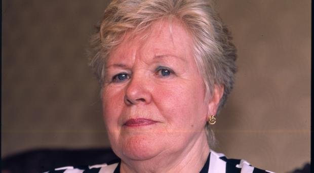 Mrs Margaret McKinney, relative of missing IRA victim Brian. The 22-year-old was abducted and killed, becoming one of 'The Disappeared'. His body wasn't recovered until 1999.