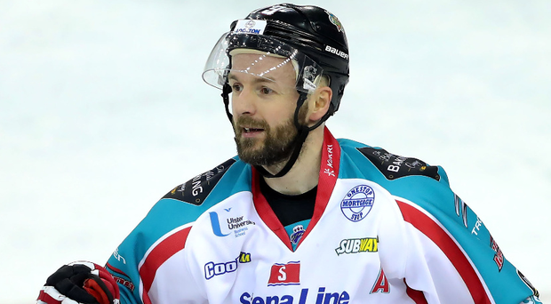 At the double: Colin Shields netted twice for the Giants