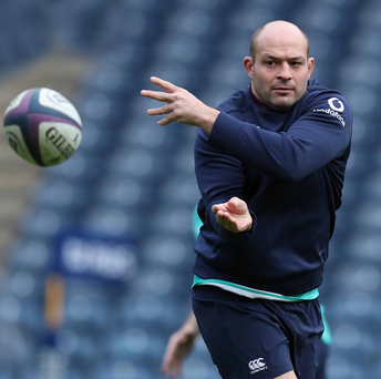 Helping hand: Rory Best now feels more comfortable in his role as Ireland skipper and is determined to lead his men to a winning start