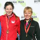 Run Forest Run Antrim Castle Gardens: Womens 5k winners Anne Paul (2nd), Ann Terek (1st) and Geraldine Quigley (3rd). Saturday 4th February 2017. Photo: Freddie Parkinson/Press Eye.