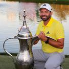 Sergio Garcia won the Dubai Desert Classic golf tournament in Dubai