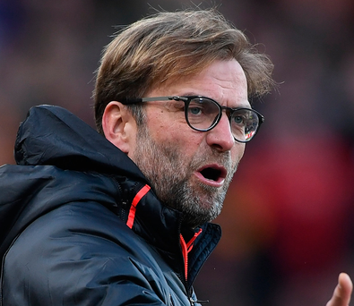 Frustrated: Liverpool boss Jurgen Klopp