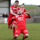 Winner: Tiarnan Mulvenna celebrates