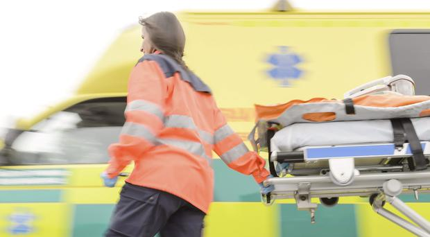A man smashed an ambulance windscreen with an oxygen cylinder in one of two sickening attacks on paramedics over the weekend