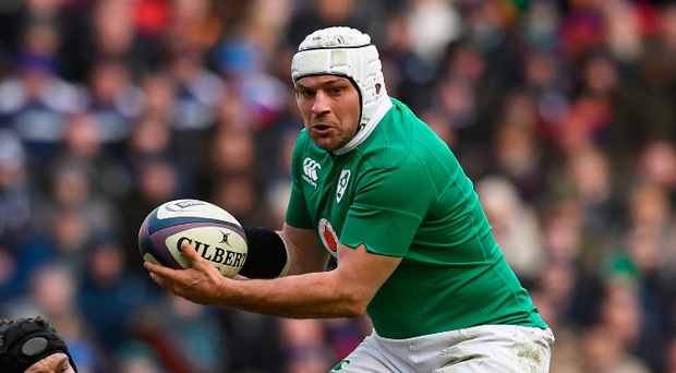 Ball in hand: Rory Best tries to set Ireland on the front foot while. (Photo by Stu Forster/Getty Images)