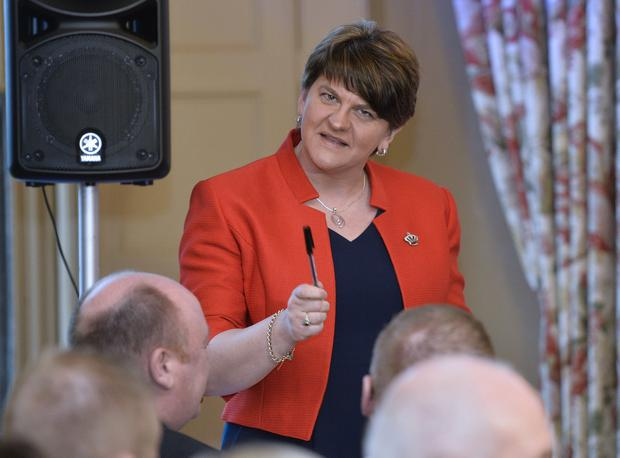 Arlene Foster pictured at the DUP election campaign launch at Brownlow House Photograph by Presseye/Stephen Hamilton