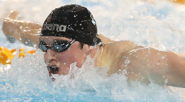 Tops: Conor Brines now holds the Irish 100m butterfly record