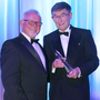 Running away with it: top athletics official David Seaton was named the recipient of the Paddy Patterson Award, sponsored by the Northern Ireland Sports Forum, presented by Chair of the Forum,
