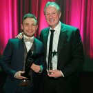 Plenty to smile about: big award winners on the night, Carl Frampton and Michael O'Neill