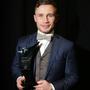 Simply the best: Carl Frampton with his Belfast Telegraph Sports Star of the Year award