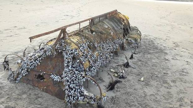 The boat believed to have been used by Cuban refugees Photo: Gordon Fallis