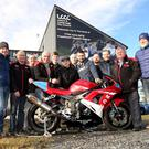 Revved up: A group of six riders from across the UK and Ireland have taken part in a half day training session ahead of their first Ulster Grand Prix in August, (from left) Stephen Ferguson (MCUI trainer), Ken Stewart (MCE Ulster Grand Prix), Callum Paterson, Noel Johnston (MCE Ulster Grand Prix), Jay Bellers Smith, Euan Meston, Francis O'Hara, William Dunlop, Matt Donaldson, Barry Sheehan, Eddie Johnson (MCE Ulster Grand Prix) and Michael Swann (MCUI trainer)