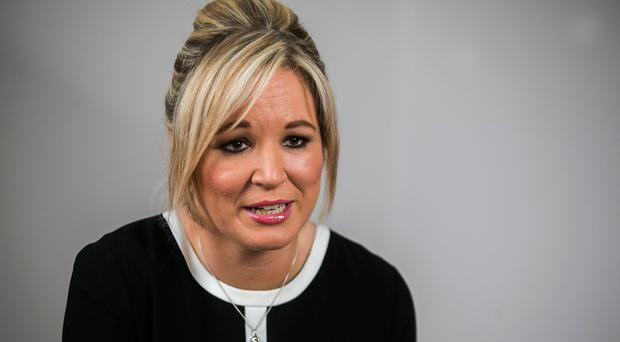 Client: Sinn Fein's new northern chief Michelle O'Neill claimed £14,500 on expenses for work carried out by the company.