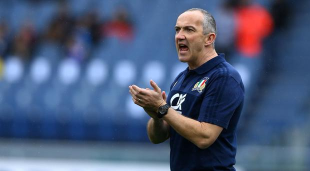 A big hand: Conor O'Shea is devoted to boosting the Italian national side's reputation and bringing in new structures