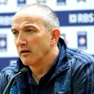 Underdogs: Conor O'Shea accepts his Italy side face mammoth challenge tomorrow against Ireland, his home nation