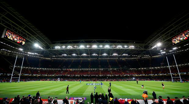 Sky high: Principality Stadium roof will be left open