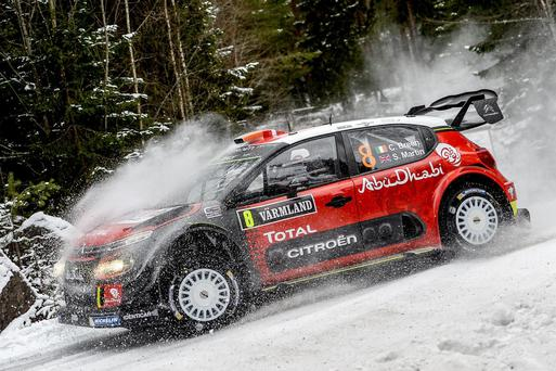Up to speed: Craig Breen was second quickest in the Rally Sweden shakedown