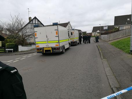 Scene of the alert in Derry.