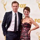 Close couple: Damian Lewis and his wife Helen McCrory