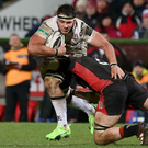 Class: Marcell Coetzee stars on his Ulster debut