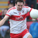 Star man: Benny Heron claimed two excellent points for Derry