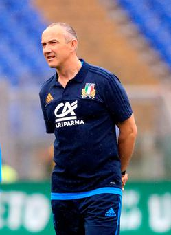 Tough task: Conor O'Shea's Italy need a change in fortune