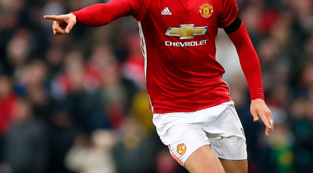 Point the way: Zlatan Ibrahimovic is keen for United to deliver more than just the Community Shield