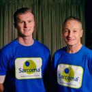 Richard Dunwoody with his nephew George (left) who has Sarcoma