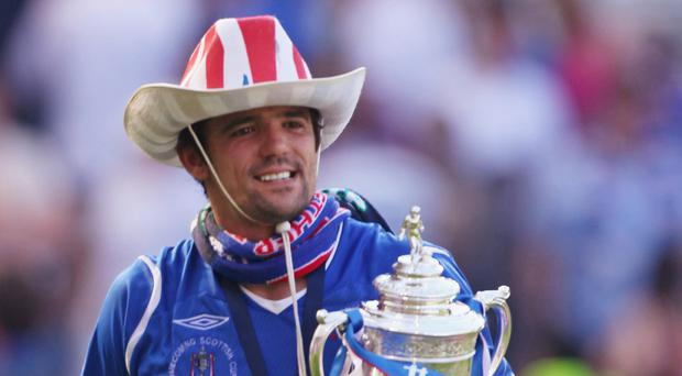 Happy times: Nacho Novo in his Rangers days
