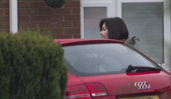 Economy drive: Sarah Swain gets into a car at a WSCHA-owned property where she has been staying.