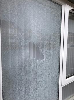 PACEMAKER BELFAST 14/02/2017 The front window of a house in Fashoda street in east Belfast smashed in an overnight attack.