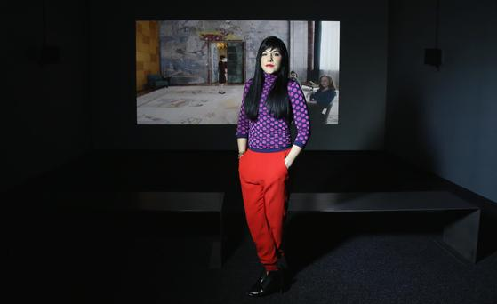 MAC International Winner: Jasmina Cibic who was awarded the 2016 MAC International Ulster Bank Art Prize with their work entitled 'Tear Down and Rebuild'. 27 October 2016 - Picture by Darren Kidd / Press Eye.
