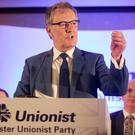UUP leader Mike Nesbitt launches the party's manifesto in east Belfast yesterday