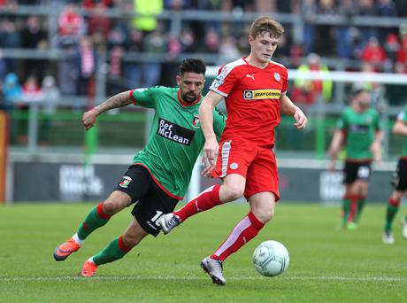 The Sky Sports cameras will be in place at Solitude this Friday night as Cliftonville host Glentoran in the Danske Bank Premiership. Pic Presseye