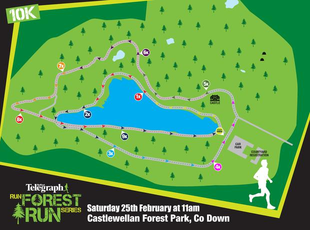 Castlewellan 10k route map