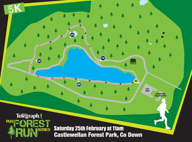 Castlewellan 5k route map