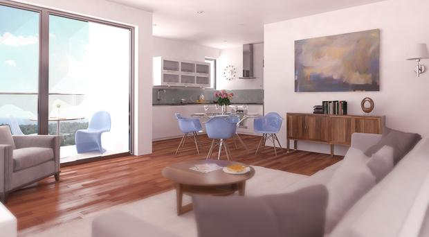 An artist's impression of the new Belfast apartments