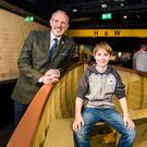Tim Husbands, CEO Titanic Belfast and William Harland, whose ancestor was shipyard owner Edward Harland
