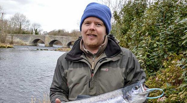 What a catch: William Rainey with the first salmon of year from the Drowes