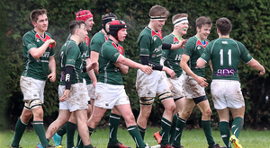 What a feeling: Friends celebrate during their march to the Schools' Cup quarter-finals