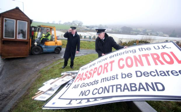 Border Communities Against Brexit holds anti-Brexit protest. Picture by Jonathan Porter/PressEye.com